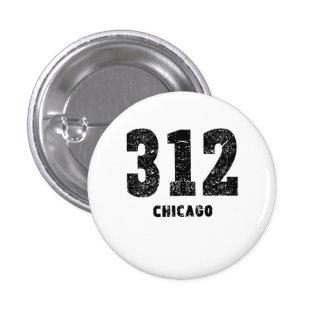 312 Chicago Distressed 1 Inch Round Button
