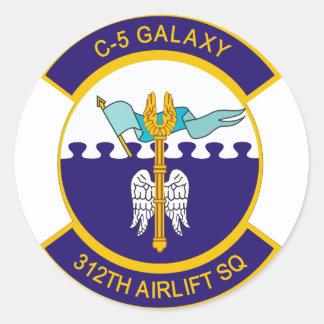 312o Escuadrilla del puente aéreo Pegatina Redonda