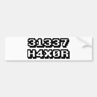 31337 H4X0R BUMPER STICKER