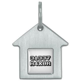 31337 H4X0R PET ID TAG