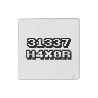 31337 H4X0R STONE MAGNET