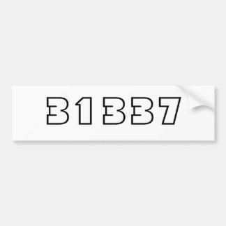 31337 PEGATINA PARA AUTO