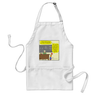 313 someone is getting a spanking Cartoon Apron
