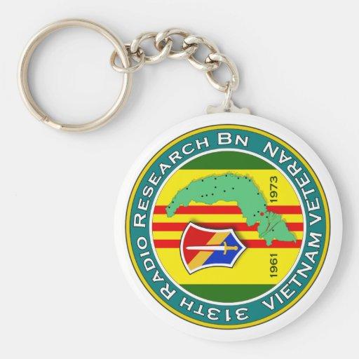 313th RR Bn - ASA Vietnam Basic Round Button Keychain