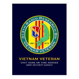 313th RR Bn - ASA Vietnam Postcard