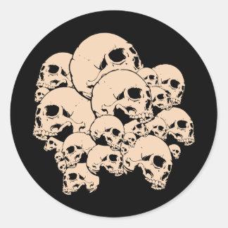 314 Skulls Round Stickers