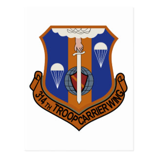 314th Troop Carrier Wing Postcard
