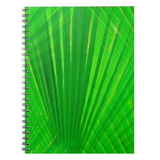 315941  GREEN PALM LEAVES DIGITAL REALISM BACKGROU SPIRAL NOTEBOOK