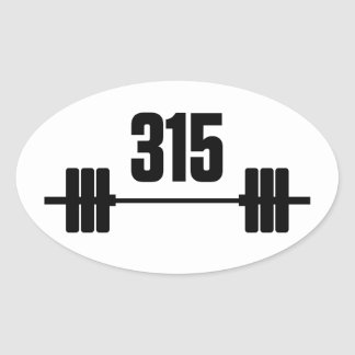 315 lbs. Barbell Sticker