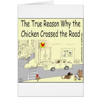 315 porqué el pollo cruzó el dibujo animado del felicitación