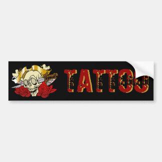 315 Tattoo Skull Car Bumper Sticker