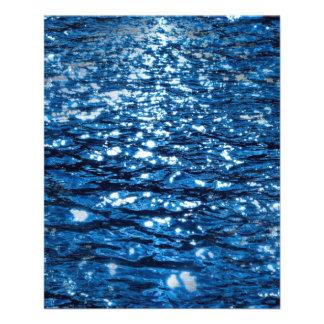 "316143 BLUE OCEAN RIPPLES NATURE BEAUTY BACKGROUND 4.5"" X 5.6"" FLYER"
