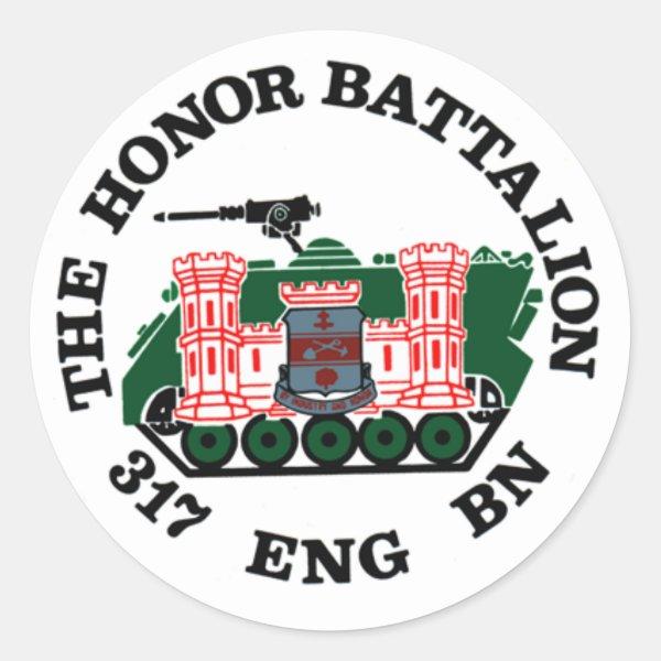 317th Engineer Battalion - Honor Battalion Classic Round Sticker