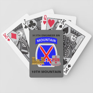 317TH ENGINEER BN 10TH MOUNTAIN PLAYING CARDS