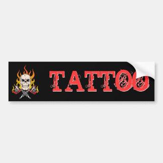 318 Flaming Skull Tattoo Car Bumper Sticker