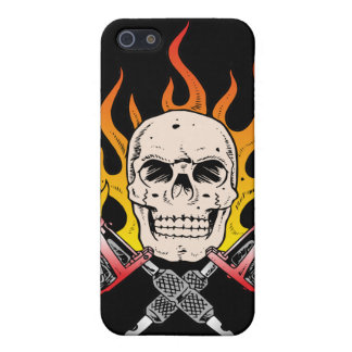 318 Flaming Skull Tattoo Cover For iPhone SE/5/5s