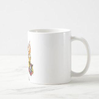 318 Flaming Skull Tattoo Classic White Coffee Mug