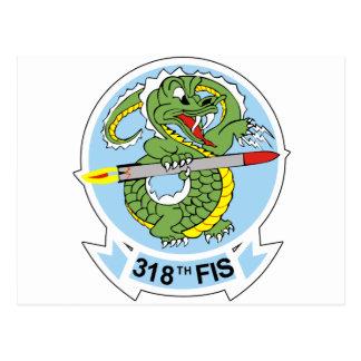 318o Escuadrilla del interceptor de combatiente Tarjeta Postal