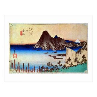 31. 舞坂宿, 広重 Maisaka-juku, Hiroshige, Ukiyo-e Postal