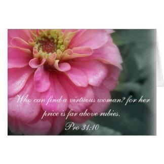 31:10 del ~ de la colección de los proverbios 31 tarjeta de felicitación