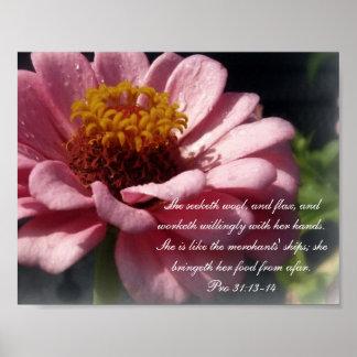 31:13 de Collection~ de los proverbios 31 favorabl Póster