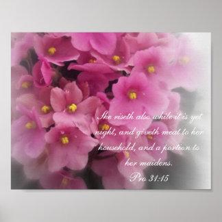 31:15 del ~ de la colección de los proverbios 31 f póster