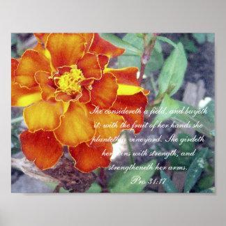 31:17 del ~ de la colección de los proverbios 31 f póster