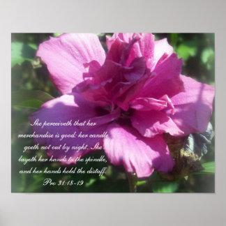 31:18 de Collection~ de los proverbios 31 favorabl Póster
