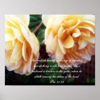 31:22 del ~ de la colección de Probverbs 31 favora Póster
