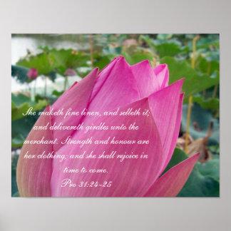 31:24 de Collection~ de los proverbios 31 favorabl Póster