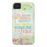 31:25 artístico de los proverbios iPhone 4 carcasas