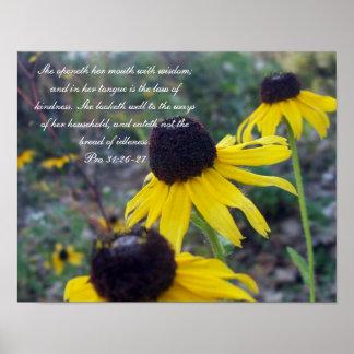 31:26 de Collection~ de los proverbios 31 favorabl Póster