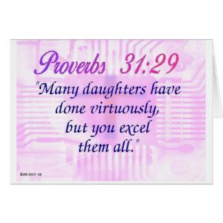 31:29 de los proverbios tarjeta de felicitación