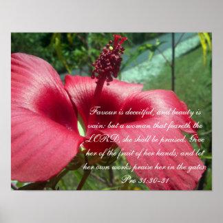 31:30 del ~ de la colección de los proverbios 31 f póster