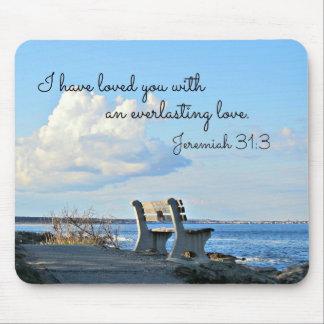 31:3 de Jeremiah le he amado con un eterno Tapetes De Raton