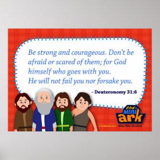 31:6 de Deuteronomy Poster