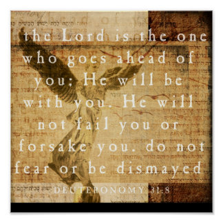 31:8 de Deuteronomy Posters