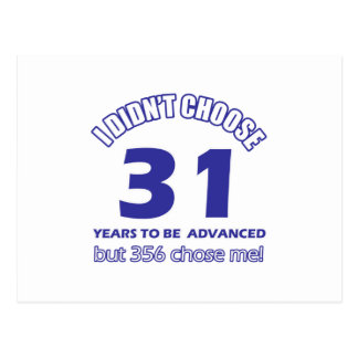 31 años de adelanto postales