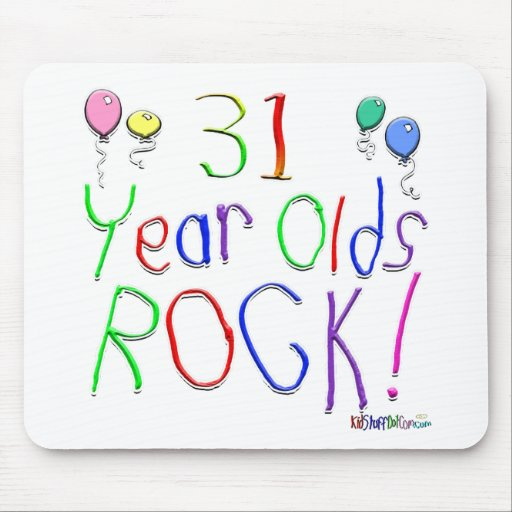 ¡31 años de la roca! tapetes de raton