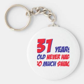 31 años del diseño del cumpleaños llavero