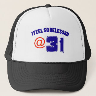 31 birthday design trucker hat