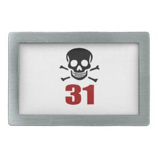 31 Birthday Designs Belt Buckle