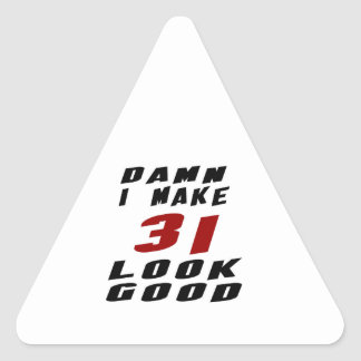 31 Birthday Designs Triangle Sticker