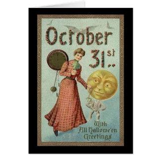 31 de octubre vintage Halloween (2) Tarjetas