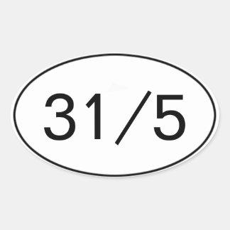 31 en el pegatina 5