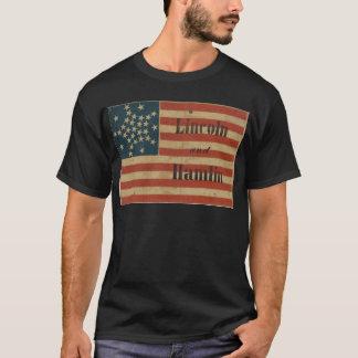 31 estrella Lincoln 1860 y bandera americana de Playera