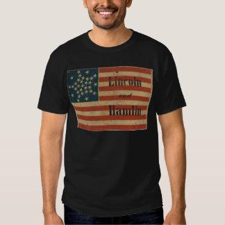 31 estrella Lincoln 1860 y bandera americana de Remera