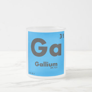 31 Gallium | Periodic Table of Elements 10 Oz Frosted Glass Coffee Mug