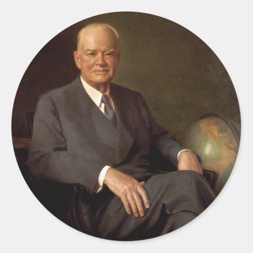 31 Herbert Hoover Pegatina Redonda