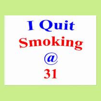 31 I Quit Smoking Postcard